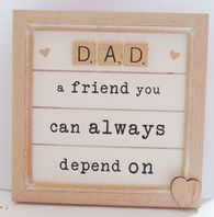 'Dad A Friend You Can Always Depend On' Scrabble Word Hanging Sign....
